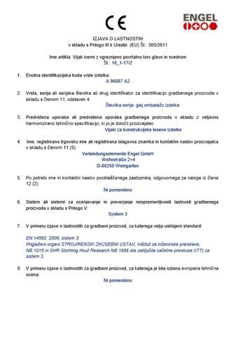 Vijak lesni samovrtalni torx inox (DOP 16 1-172)