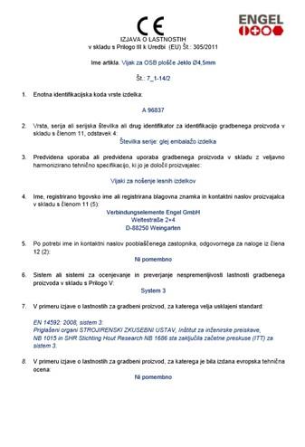 Vijak iver z vgr. povrtalno glavo (DOP 7 1-142)