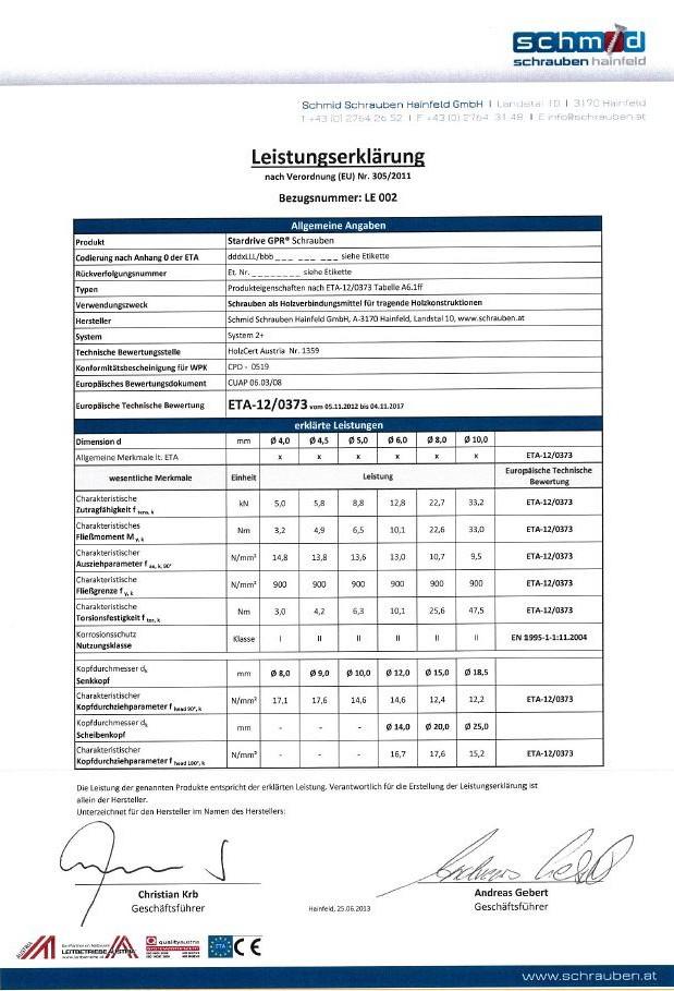 Stardrive GPR (Construction Screw)